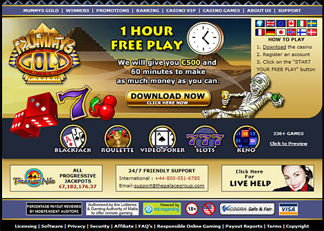 Mummys Gold Free Hour Online Casino - Free Hour Casinos
